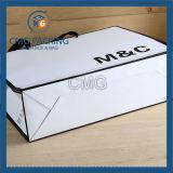 Color anaranjado con el bolso negro del regalo del papel de la frontera (DM-GPBB-069)