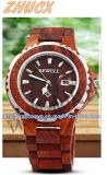 Reloj de madera de calidad superior Cx-Ww01 del metal del reloj