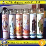 [كندل/] بيضاء دينيّ زجاجيّة قدّيس شمعة بالجملة لأنّ كنيسة