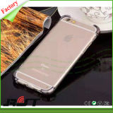 Mobiltelefon-Zubehör-Schlag-Beweis-Schlagbiegefestigkeit mit galvanisieren EckShockproof Kästen des absinken-Schutz-TPU für iPhone 6