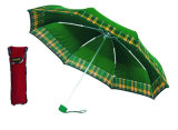 Verific o guarda-chuva Windproof da dobra da borda contínua da beira (YS-3FM21083406R)