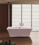 Tipo autônomo banheira acrílica preto e branco material da instalação