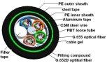 Tuyau Gysta53 et câble fibre optique externe de noyau d'Armoring 4 de télécommunication de trappe d'enterrement direct