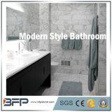 Telha de mármore de pedra natural simples para o cerco do banheiro/telha da parede & de assoalho