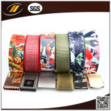 Top-Sale Elastic Custom Military Canvas Belt com liga de fivela (HJ4102)