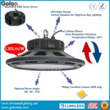 Industrielle Beleuchtung-Lampe IP65 UFO-Highbay imprägniern 130lm/W Dimmable 240W 200W 160W 150W 100W LED hohes Bucht-Licht