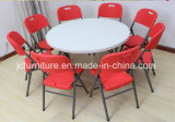 Fabricants restaurant 6 pieds en plastique table ronde pliante (JC-TR01)