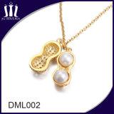 Erdnuss-Form-Perlen-Silber-Stein-Anhänger