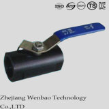 Type robinet de Guang à tournant sphérique gauche réduit par Monoblock d'acier inoxydable
