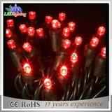 IP65ゴム製ワイヤー休日薄赤のカラーLEDストリングライトクリスマスの照明