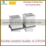 Barre sanitaire d'acier inoxydable d'accessoires de salle de bains d'articles double