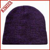冬の昇進のHeathered編む帽子の帽子