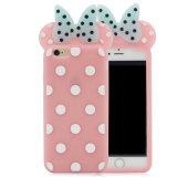 S7 J5 J7のシリコーンの電話箱のiPhone 6 7plus Minnie Mickeyの携帯電話カバー(XSD-061)