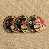 Изготовленный на заказ супер значок эмали Марио с бабочкой Cluch