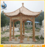 Stone Gazebo Garden Bench for Sale