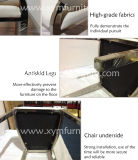 Luxushotel-Armlehnen-Esszimmer-Stuhl-Edelstahl-Beine, die Stuhl speisen
