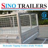 Cage tandem de remorque australienne de ferme inclinant la remorque
