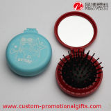 Peine plástico plegable de la bola de la dimensión de una variable redonda con el espejo