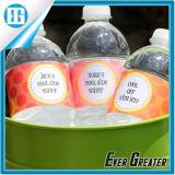 Étiquette imperméable à l'eau des textes de PVC de couleur de bouteille différente de shampooing