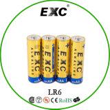 baterias de 1.5V AA Lr6 com a bateria alcalina do Exc para o uso Home