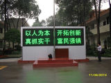 P10 Outdoor Green Color Display LED / LED Road Traffic Sign