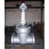 Valvola a saracinesca industriale della flangia di uso con manovrato mediante ingranaggi