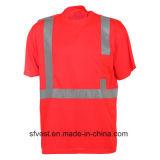 T-shirts r3fléchissants de sûreté de ventes en gros pour le travail