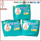 空気Laid Paper FeatureおよびBabies Age Group Sunny Baby Disposable Diapers