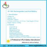 batterie rechargeable d'acide de plomb scellée par Mf de 6V 4ah VRLA