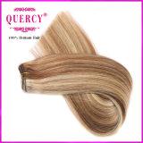 Do destaque cabelo do Virgin do ser humano em linha reta 100% da extensão brasileira do cabelo