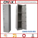 Cacifo de Steel de 3 portas com Customized Size & Combination para School Gym Cmax-SL03-001