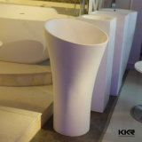 Kkrの卸し売り光沢がある黒い石造りの樹脂の軸受けの洗面器(B1612082)