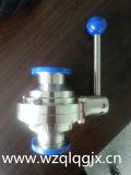 Санитарной продетый нитку нержавеющей сталью сваренный клапан Бабочк-Шарика струбцины