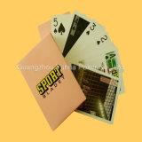 100% personalizado de plástico impresas Naipes Poker