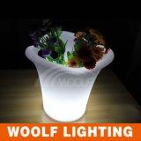 プラスチック植木鉢のカスタム植木鉢LEDの明確な植木鉢