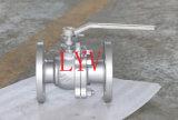 A alavanca operou a válvula de esfera flangeada do aço inoxidável