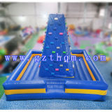 Outdoor Air Rock Mountain Inflatable Climbing Walls / Inflatable Sports Rock Climbing Wall