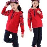 羊毛の花は子供の女の子のスポーツ・ウェアのスーツを「sの衣服Swg131からかう