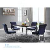 Banquete azul confortável do hotel do metal da tela que janta a cadeira (HW-1101C)
