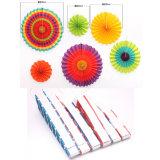 Mestiere Handmade di carta decorativo domestico/rosette di carta d'attaccatura del ventilatore della rotella