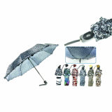 Tierhaut-Druck-windundurchlässige Falten-Regenschirme (YS-3FD22083907R)