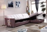 熱い製品の収納箱が付いている角のソファーベッド
