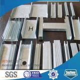 Stahltrockenmauer (Decke), galvanisierter heller Stahlkiel