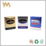 Caja de embalaje del perfume de la cartulina de la exportación con el trazador de líneas