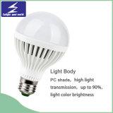 luz de bulbo plástica do diodo emissor de luz de 3W 220V