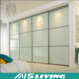 Wardrobe de vidro do armário do quarto da mobília da porta (AIS-W037)