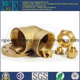 Kundenspezifische hohe Präzision CNC-maschinell bearbeitende Messingnippel-Kupplung
