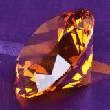 Diamant en cristal bleu de lac lumineux pour le décor d'ornement