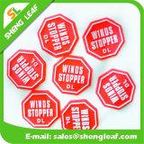 Nueva etiqueta de goma de los regalos promocionales del silicón del diseño (SLF-TM008)