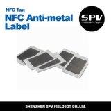 NFC HF13.56MHz 반대로 금속 레이블 Ntag203 PVC ISO14443A